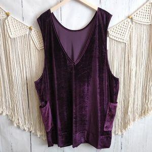 NWT Agnes & Dora Purple Velvet Jumper Dress XL